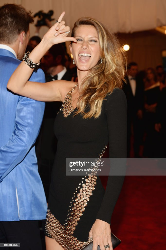 Gisele Bundchen attends the Costume Institute Gala for the 'PUNK: Chaos to Couture' exhibition at the Metropolitan Museum of Art on May 6, 2013 in New York City.