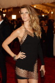 Gisele Bundchen attends the Costume Institute Gala for the 'PUNK Chaos to Couture' exhibition at the Metropolitan Museum of Art on May 6 2013 in New...