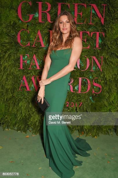 Gisele Bundchen attends the Green Carpet Fashion Awards Italia wearing Stella McCartney for the Green Carpet Challenge at Teatro Alla Scala on...