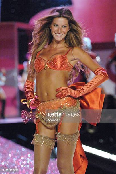 Gisele Bundchen during 10th Victoria's Secret Fashion Show Runway at The New York State Armory in New York City New York United States