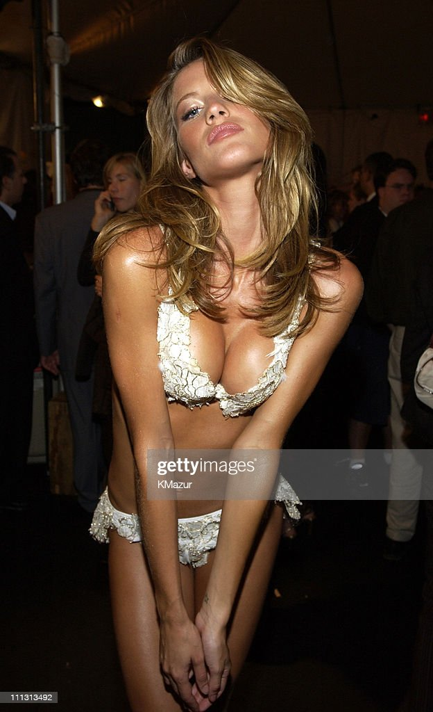 Gisele Bundchen during 8th Annual Victoria's Secret Fashion Show - Backstage at The New York State Armory in New York City, New York, United States.