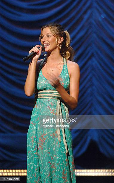Gisele Bundchen during VH1 Save The Music A Concert To Benefit The VH1 Save The Music Foundation Show at Beacon Theatre in New York City New York...