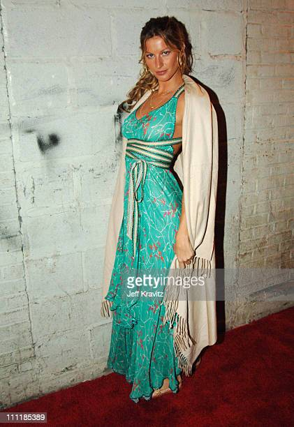 Gisele Bundchen during VH1 Save The Music A Concert To Benefit The VH1 Save The Music Foundation Departures at Beacon Theatre in New York City New...