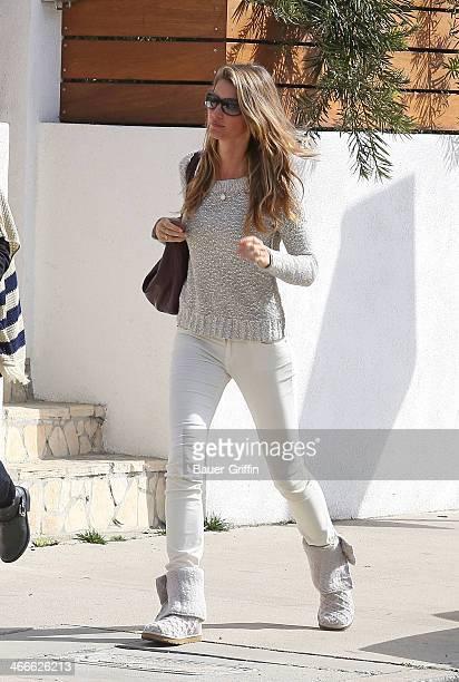 Gisele Bundchen is seen on February 02 2014 in Los Angeles California