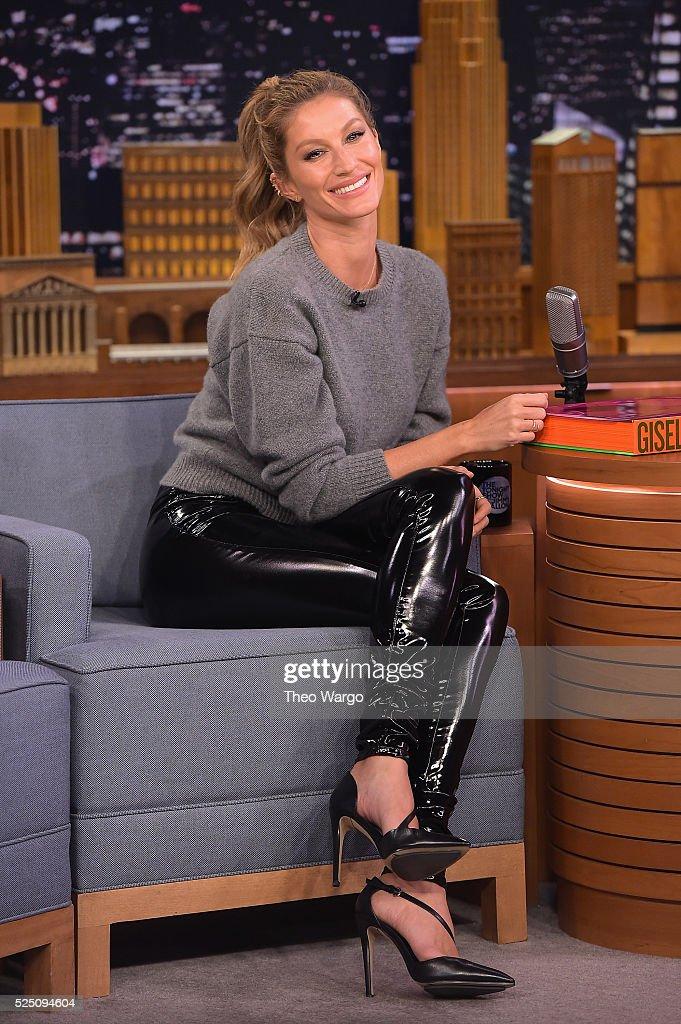 Gisele Bundchen Visits 'The Tonight Show Starring Jimmy Fallon' at Rockefeller Center on April 27, 2016 in New York City.