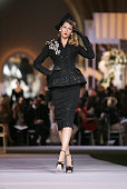 Gisele Bundchen walks down the catwalk wearing Dior Haute Couture Fall/Winter 2008 on July 2 in Versailles France