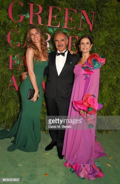 Gisele Bundchen wearing Roberto Capucci for the Green Carpet Challenge Carlo Capasa President of the Camera Nazionale della Moda Italiana and Livia...