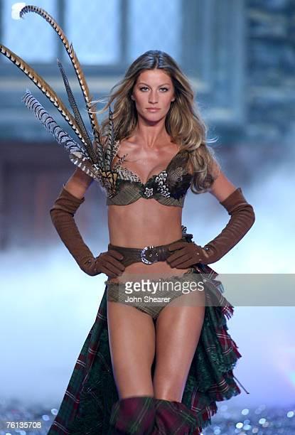 Gisele Bundchen wearing Swarovski embellished garments by Victoria's Secret