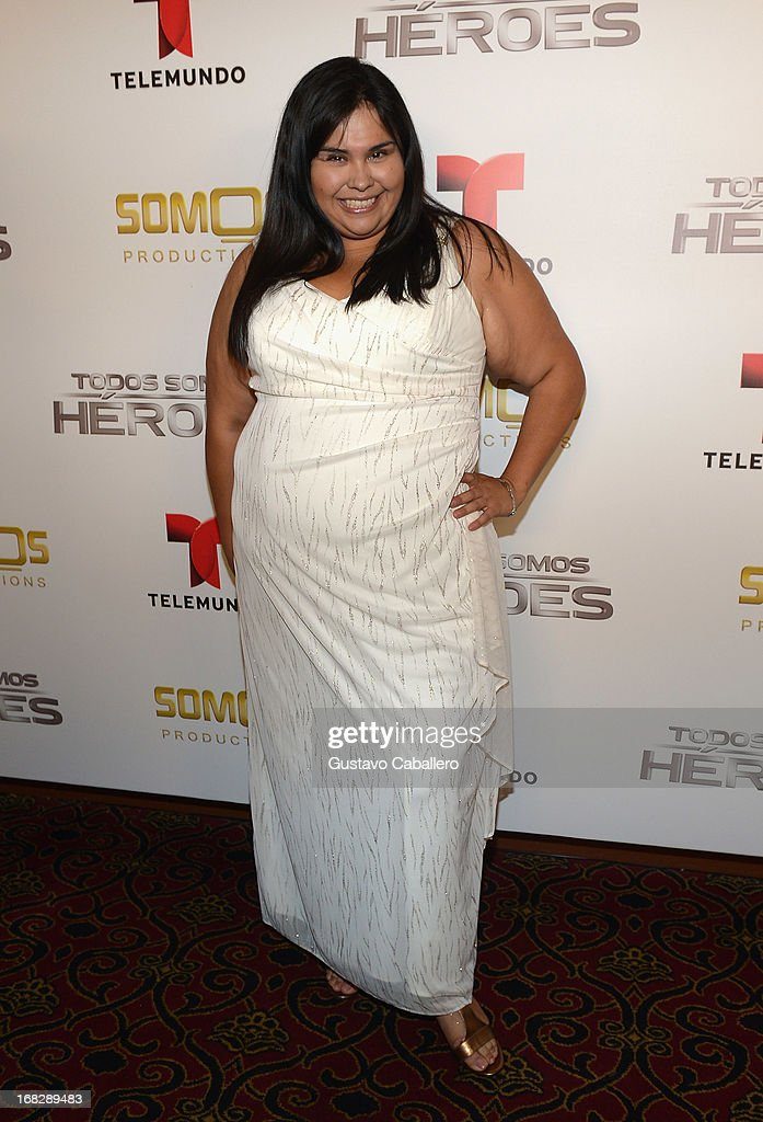 Gisella Aboumrab attends Telemundo's Todos Somos Heroes Gala on May 7, 2013 in Miami, United States.
