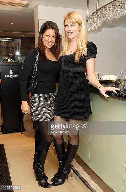 Gisella Bernalis and Meredith Ostrom during Launch of De Grisogono's Latest Watch 'Be Eight' Arrivals November 30 2006 in London Great Britain