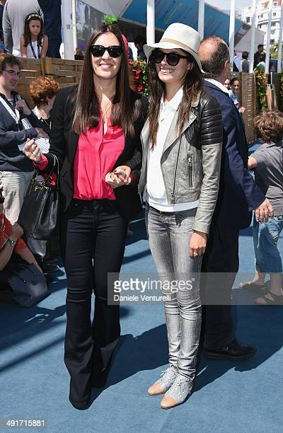 Gisella Marengo and Gabriella Wright attend the Film Music Ischia Global Fest reception at the 67th Annual Cannes Film Festival on May 17 2014 in...