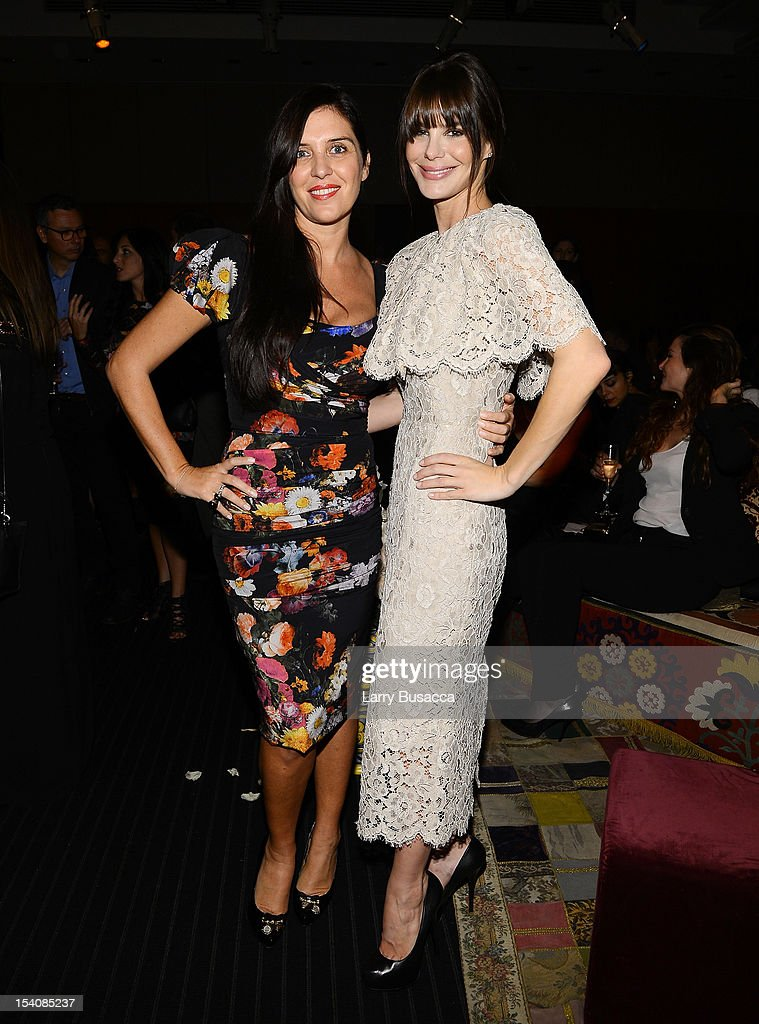 Gisella Marengo and Lucila Sola attend a private cocktail party for the restored 'Fellini Satyricon' hosted by Dolce Gabbana at the 50th New York...