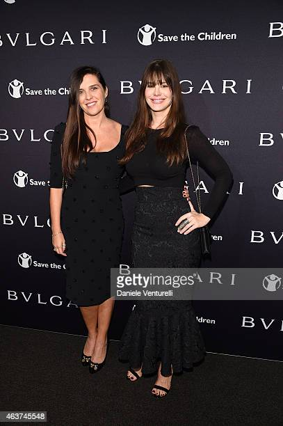 Gisella Marengo and Lucila Sola attends BVLGARI And Save The Children STOP THINK GIVE PreOscar Event at Spago on February 17 2015 in Beverly Hills...