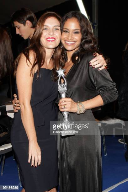 Gisella Marengo and Shannon Kane attend the third day of the 14th Annual Capri Hollywood International Film Festival on December 29 2009 in Capri...