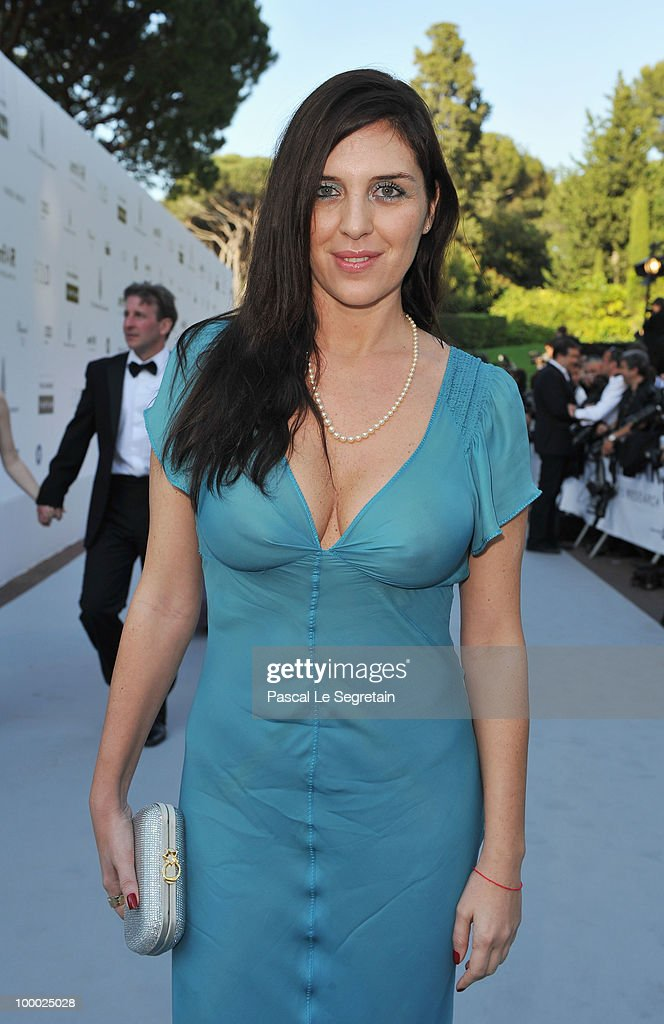 Gisella Marengo arrives at amfAR's Cinema Against AIDS 2010 benefit gala at the Hotel du Cap on May 20 2010 in Antibes France