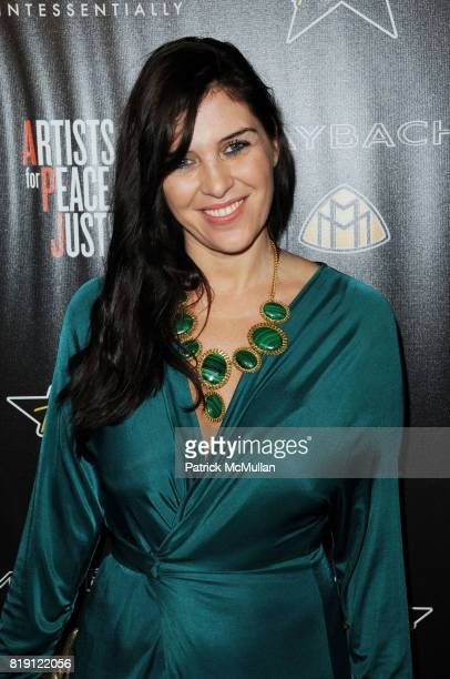 Gisella Marengo attends 3rd Annual PreOscar Hollywood DOMINO Gala Benefiting Artists for Peace and Justice at BAR 210 on March 4 2010 in Beverly...