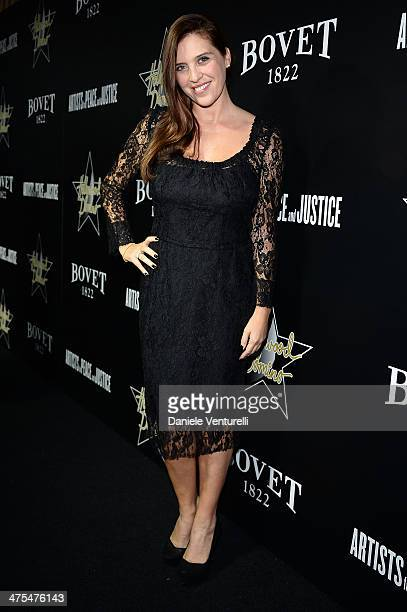 Gisella Marengo attends the 7th Annual Hollywood Domino and Bovet 1822 Gala benefiting artists for peace and justice at Sunset Tower Hotel on...