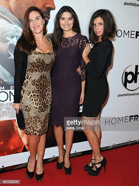 Gisella Marengo Gabriella Wright and Guja Quaranda arrive at the premiere of HOMEFRONT at Planet Hollywood Resort Casino on November 20 2013 in Las...