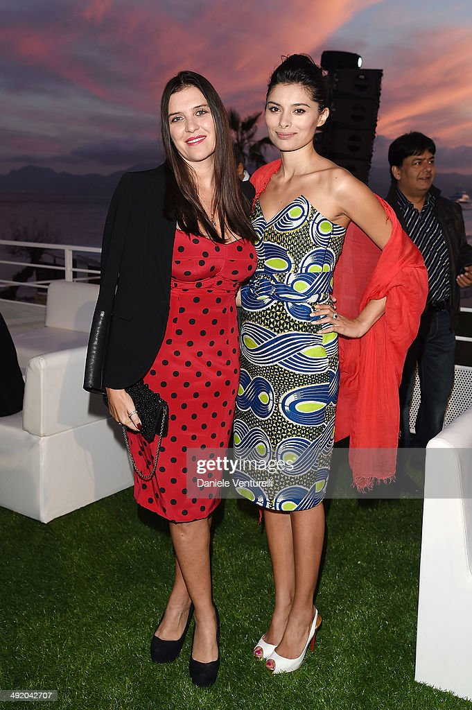 Gisella Marengo Gabriella Wright attend the Expendables 3 Dinner and Party sponsored by MATCHLESS on May 18 2014 in Cannes France