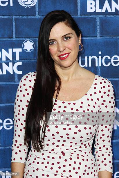 Gisella Marengo wearing Montblanc Collection Princesse Grace de Monaco attends a PreOscar charity brunch hosted by Montblanc and UNICEF to celebrate...