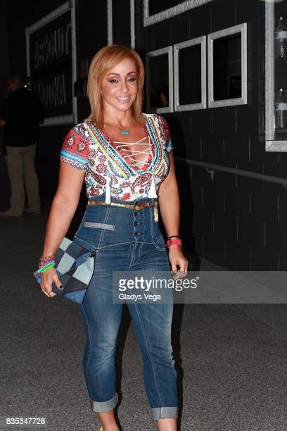 Giselle attends to Carlos Vives Concert at Coliseo Jose Miguel Agrelot on August 18 2017 in San Juan Puerto Rico