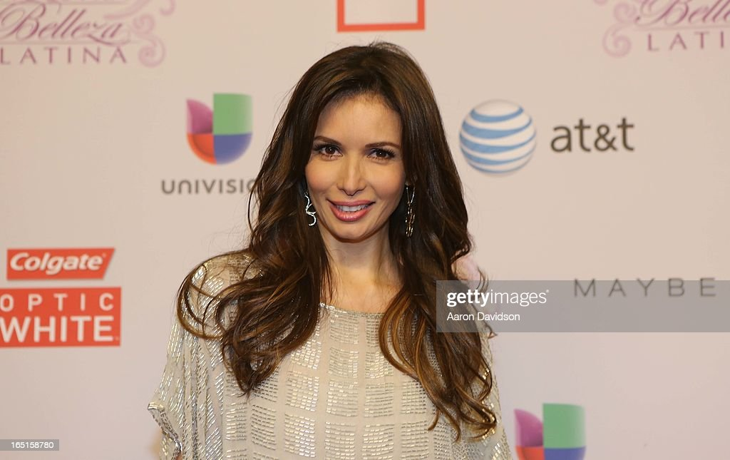 Giselle Blondet attends Univisions Nuestra Belleza Latina Finalists Revealed at Univision Headquarters on March 31, 2013 in Miami, Florida.