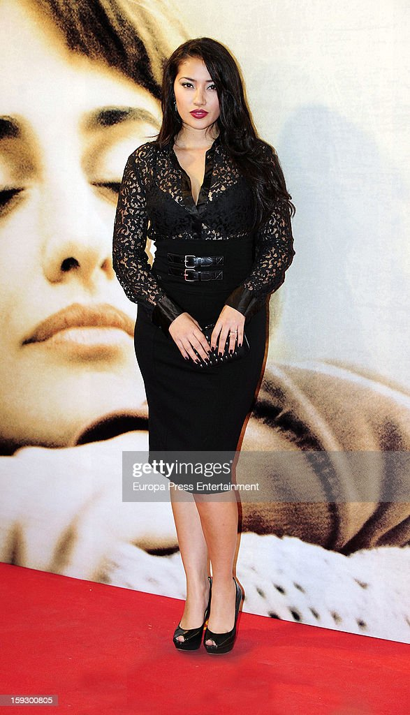 Giselle Calderon attends 'Venuto Al Mondo' premierte at Capitol Cinema on January 10, 2013 in Madrid, Spain.