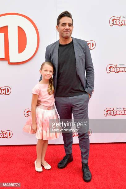 Giselle Eisenberg and Bobby Cannavale attend the screening of 20th Century Fox's 'Ferdinand' at Zanuck Theater at 20th Century Fox Lot on December 10...