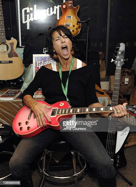 Giselle Fernandez at the Gibson Guitar Station during The 7th Annual Latin GRAMMY Awards Backstage Lounge by Distinctive Assets Day 1 at Madison...