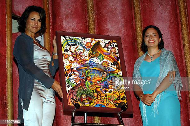 Giselle FernandezFarrand and Vivian Zapata artist of the 6th Annual Latin GRAMMY poster