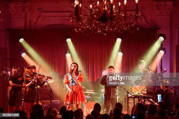 Gita Langley Ciara Ishmael Sophie EllisBextor Nicke Etwell Richard Jones and Ed Harcourt perform at Bush Hall on September 8 2016 in London England