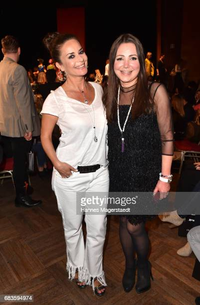 Gitta Saxx and jewelry designer Gabriele Iazzetta during the Secret Fashion Show at Alte Kongresshalle on May 15 2017 in Munich Germany