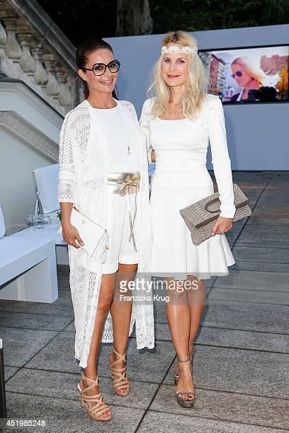 Gitta Saxx and Sonja Kiefer attend the Burda Style Cocktail on July 10 2014 in Berlin Germany