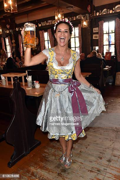 Gitta Saxx attend the Charity Lunch at 'Zur Bratwurst' during the Oktoberfest 2016 on September 27 2016 in Munich Germany