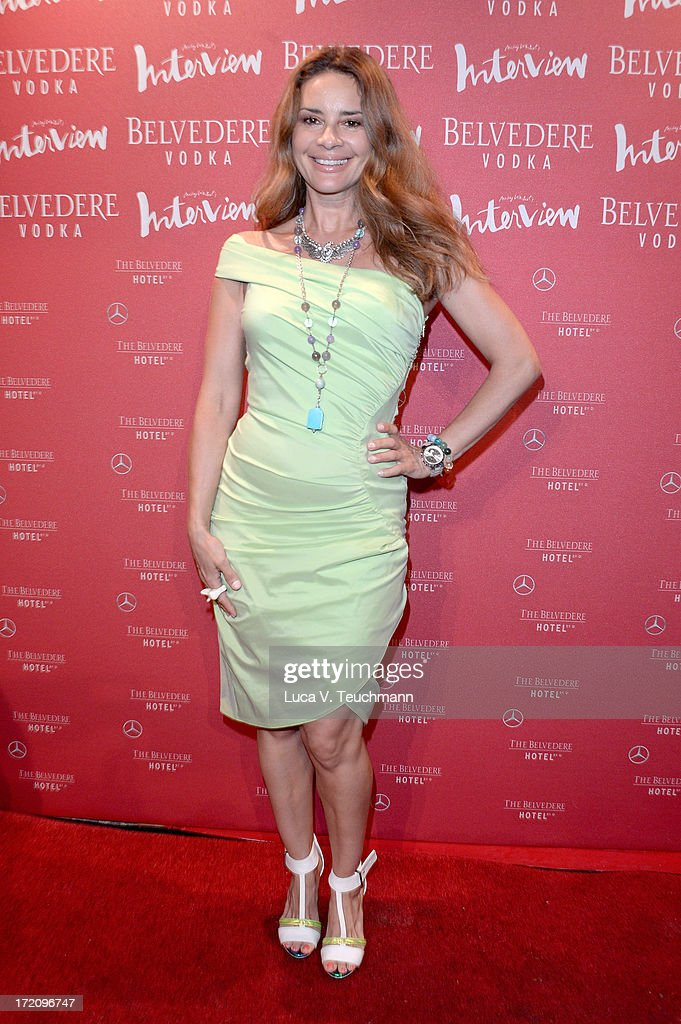 Gitta Saxx attends the Belvedere Vodka and Interview Magazine Party at THE BELVEDERE HOTEL by Q! on July 1, 2013 in Berlin, Germany.