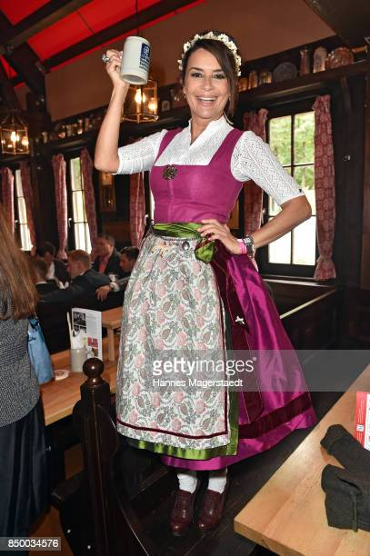 Gitta Saxx attends the Charity Lunch at 'Zur Bratwurst' during the Oktoberfest 2017 on September 20 2017 in Munich Germany