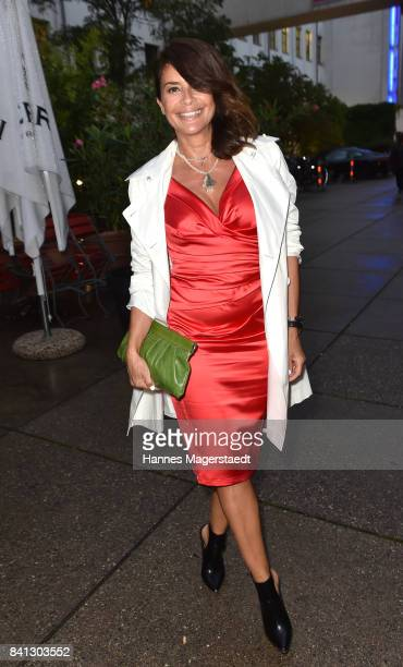 Gitta Saxx attends the CONNECTIONS PR Summer Cocktail 2017 at Enoteca L'antipasto Nuovo on August 31 2017 in Munich Germany