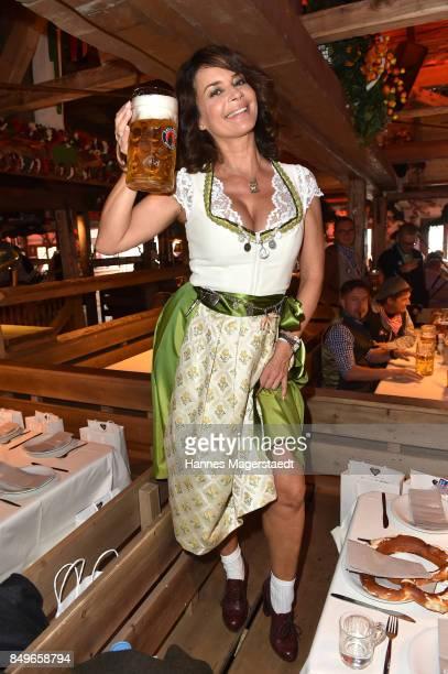 Gitta Saxx during the 'Alpenherz' as part of the Oktoberfest 2017 at Kaefer Tent on September 19 2017 in Munich Germany