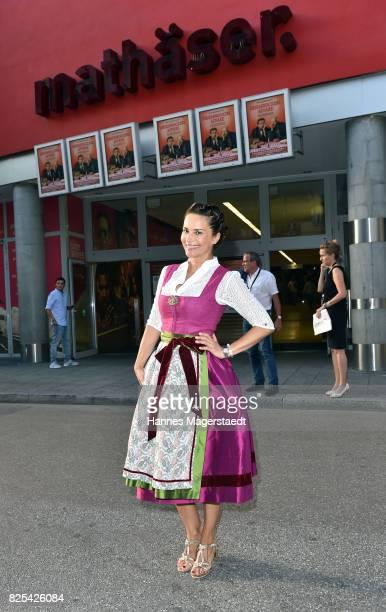 Gitta Saxx during the 'Griessnockerlaffaere' premiere at Mathaeser Filmpalast on August 1 2017 in Munich Germany