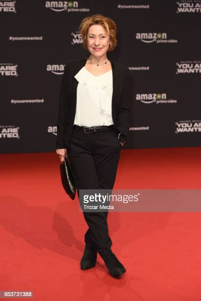 Gitta Schweighoefer attends the premiere of the Amazon series 'You are wanted' at CineStar on March 15 2017 in Berlin Germany