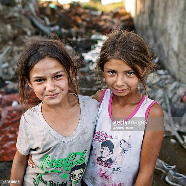 Giugliano a little town in a province of Naples southern Italy one of the areas most massacred by the latest garbage emergencies hosts a Roma camp...