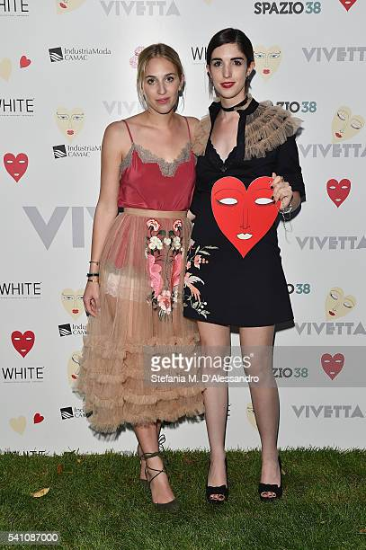 Giulia Baggini and Margherita Rovelli attend Vivetta Daydream Presented By WHITE Milano EVENTS during Milan Men's Fashion Week SS17 on June 18 2016...