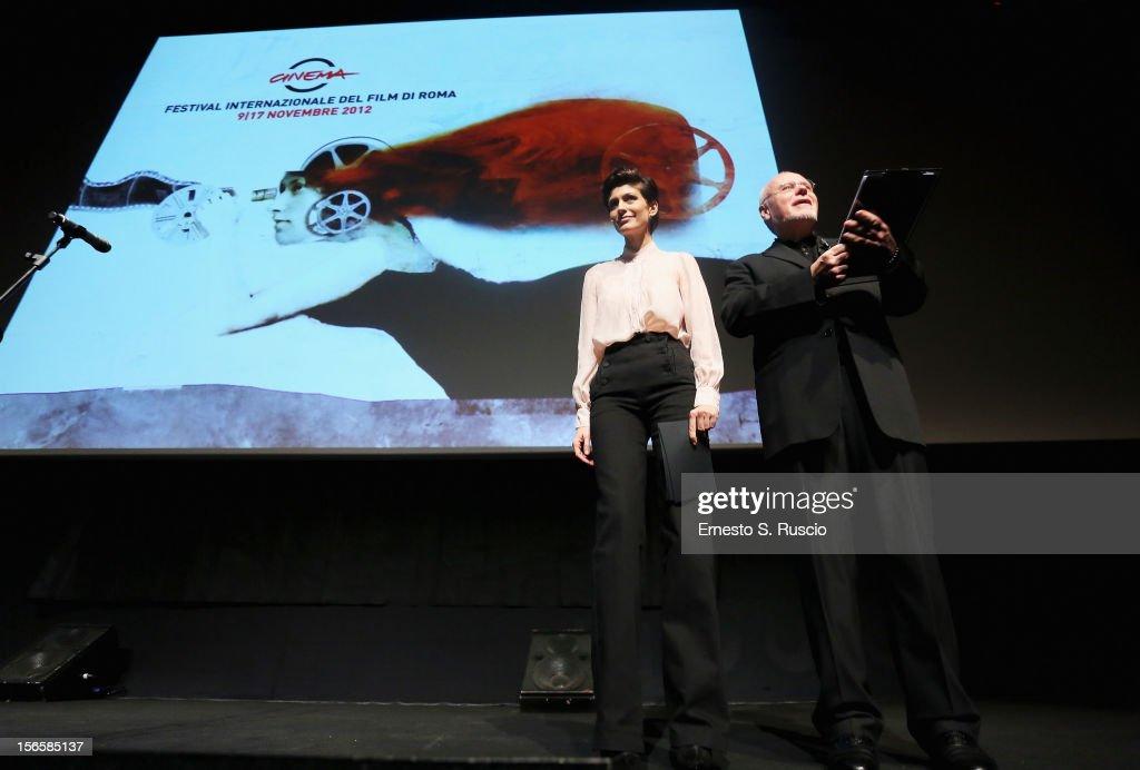 <a gi-track='captionPersonalityLinkClicked' href=/galleries/search?phrase=Giulia+Bevilacqua&family=editorial&specificpeople=4486077 ng-click='$event.stopPropagation()'>Giulia Bevilacqua</a> and Rome Film Festival director <a gi-track='captionPersonalityLinkClicked' href=/galleries/search?phrase=Marco+Muller&family=editorial&specificpeople=829966 ng-click='$event.stopPropagation()'>Marco Muller</a> attend the Collateral Awards Ceremony at the 7th Rome Film Festival at the Auditorium Parco Della Musica on November 17, 2012 in Rome, Italy.