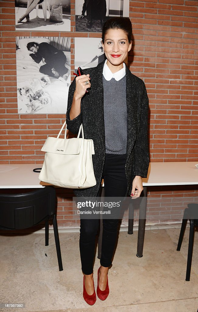 <a gi-track='captionPersonalityLinkClicked' href=/galleries/search?phrase=Giulia+Bevilacqua&family=editorial&specificpeople=4486077 ng-click='$event.stopPropagation()'>Giulia Bevilacqua</a> attends the Rome Film Festival Opening Press Conference during the 8th Rome Film Festival at the Auditorium Parco Della Musica on November 8, 2013 in Rome, Italy.