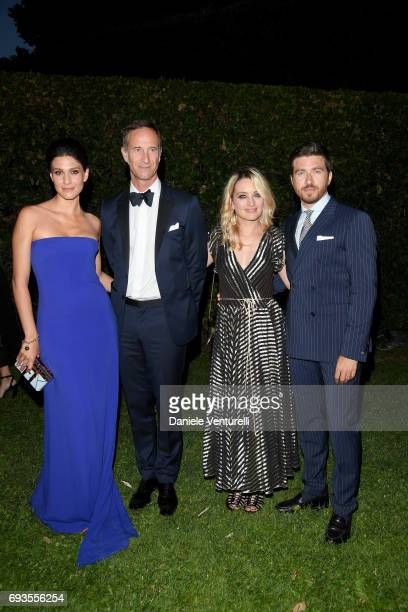 Giulia Bevilacqua Benoit de Crane d'Heysselaer Carolina Crescentini and Alessandro Roja attend McKim Medal Gala at Villa Aurelia on June 7 2017 in...
