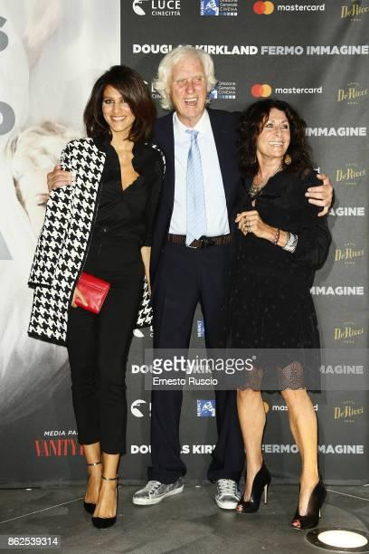Giulia Bevilacqua Douglas Kirkland and Franoise Kirkland attend 'Douglas Kirkland Fermo Immagine' exhibition opening at MAXXI Museum on October 17...
