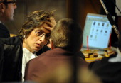 Giulia Bongiorno the lead lawyer in Raffaele Sollecito's defence team attends the Amanda Knox and Raffaele Sollecito appeal hearing on September 27...