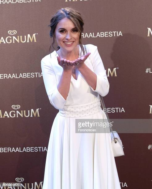 Giulia Charm attends the Magnum new campaign presentation party at the Palacete de Fortuny on June 14 2017 in Madrid Spain