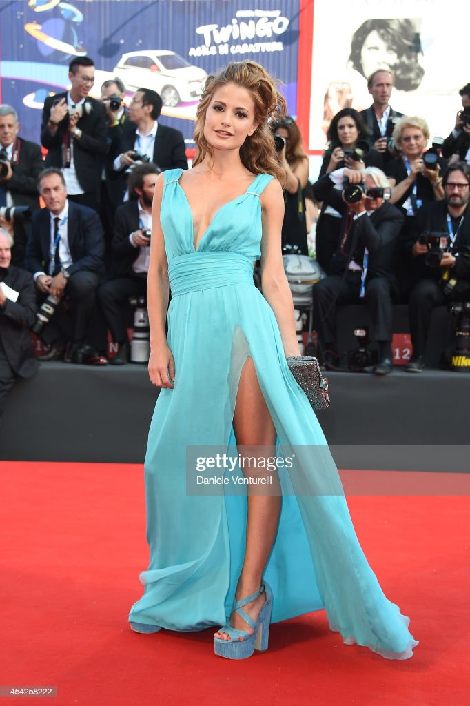Giulia Electra Goretti attends the Opening Ceremony and 'Birdman' premiere during the 71st Venice Film Festival at Palazzo Del Cinema on August 27...