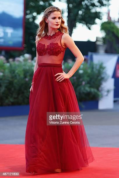 Giulia Elettra Gorietti attends a premiere for 'A Bigger Splash' during the 72nd Venice Film Festival at on September 6 2015 in Venice Italy